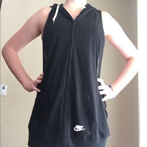 Nike Sleeveless Zip Up Hoodie