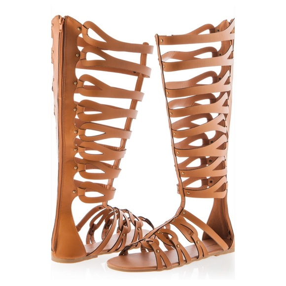 25% off Ashley Stewart Shoes - Ashley Stewart Wide Calf Gladiator