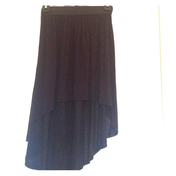 Forever 21 Skirts Black Mullet Skirt Size Small Poshmark