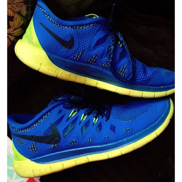 boca Perla Derivación  Nike Shoes | Make An Offer Free Runs 50 Blue And Yellow | Poshmark