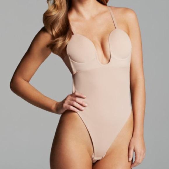 2788c53e5e U Plunge backless strapless bodysuit