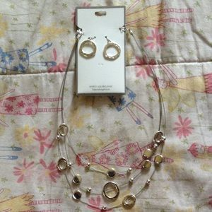Jewelry - Hypo Allergenic earrings and necklace