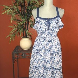 I love Ronson Dresses & Skirts - I love Ronson Blue Abstract Flowy Dress Small