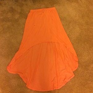 Neon orange skirt