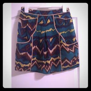 Anthropologie Tribal Print Skirt