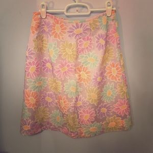 Lord & Taylor Dresses & Skirts - Pastel-colored flower petite skirt