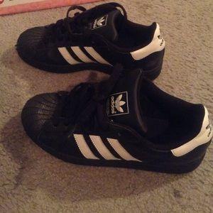 adidas black with white stripes