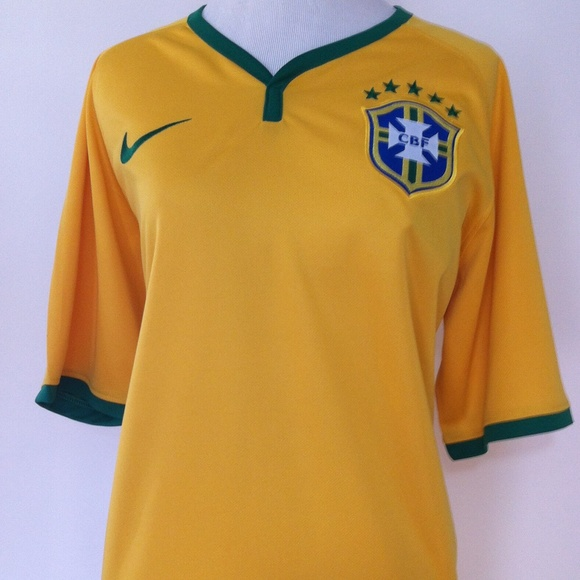 Nike Tops - Authentic Brazil Soccer Jersey
