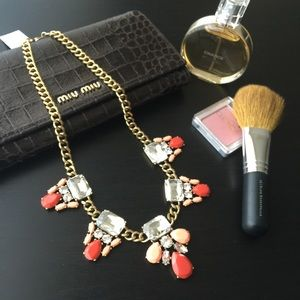  NWT J. Crew Crystal & Stone Cluster Necklace 
