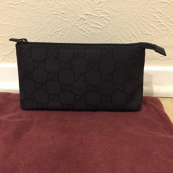 7fb3fd0266acaf Gucci Bags   Makeup Bag In Black Monogram   Poshmark