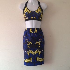 Other - Patterned Crop and Skirt Set