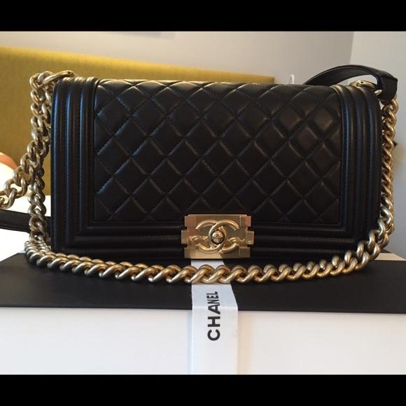 590cd515ce79 CHANEL - $4800 BRAND NEW CHANEL Black Boy Bag gold hardware from Von ?