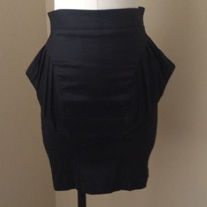 ASOS Pencil Skirt black peplum Sz. 2
