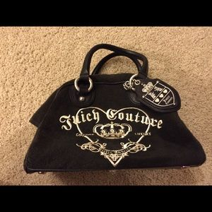 "Juicy Couture black ""bowler"" handbag"
