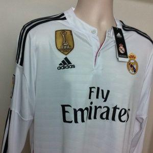 Adidas Tops - Real Madrid Football Long Sleeve Soccer Jersey