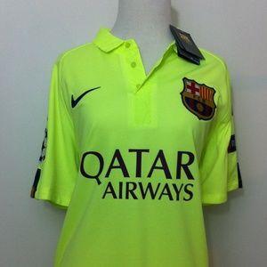 Nike Tops - Champions Barcelona Football Club Soccer Jersey
