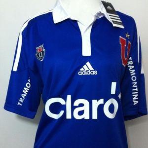 Adidas Tops - Universidad De Chile Futbol Club Soccer Jersey