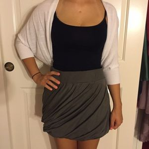 Zipper layered skirt