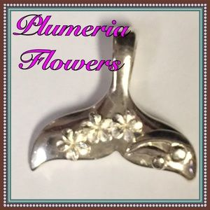 Jewelry - Sterling silver whale tail pendant.  Brand new!
