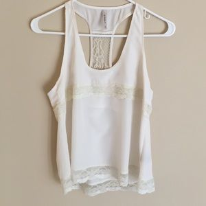 zinga Tops - Beautiful White Lace Shirt