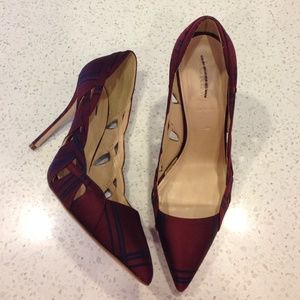 J. Crew Shoes - 🆕LISTING!  J. Crew hidden gem- burgundy silk heel