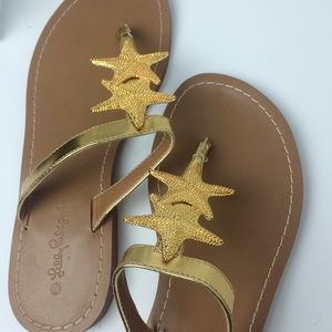 Lilly Pulitzer for Target Shoes - Lilly Pulitzer for Target Gold Starfish Sandals