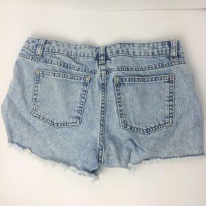 Topshop Jeans - Topshop Moto Daisy Bleach Washed Denim Shorts