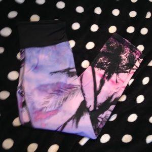Pants - Tropical crop leggings