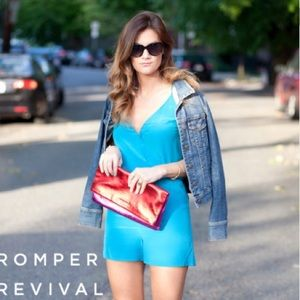 Turquoise romper from Rory Beca NWT