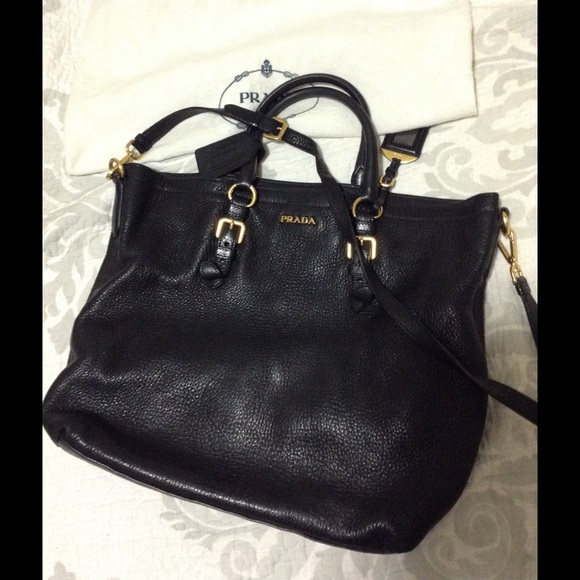 prada black tote bag