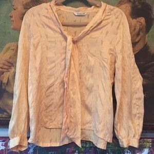Tucker yellow silk blouse M