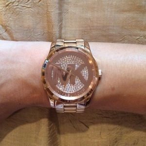 Swarovski crystal embedded Michael Kors watch