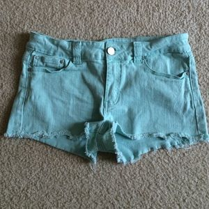 Forever 21 sea foam green denim shorts