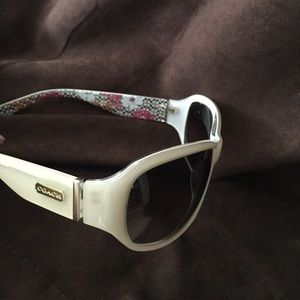 efce95430a3a1 Coach Accessories - COACH Sarah s437 sunglasses in ivory. Never worn.