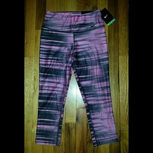 Nike Tight Fit Pink & Black Leggings XS - NWT