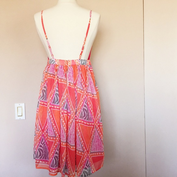 forever 21 forever 21 mix print low back summer dress