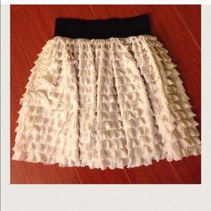 Zara ruffle tier skirt