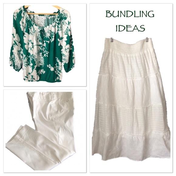 sonoma sonoma white maxi boho peasant skirt med from
