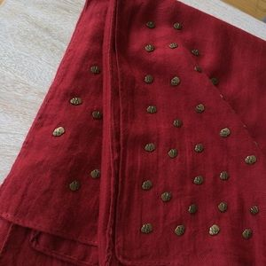 Boutique Accessories - Red knit soft skull scarf