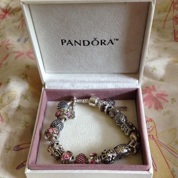 158108b26 Pandora Jewelry | Bracelet With 14 Charms | Poshmark