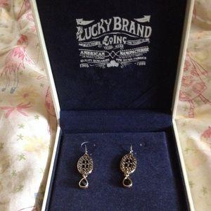 Lucky Brand Garnet earrings