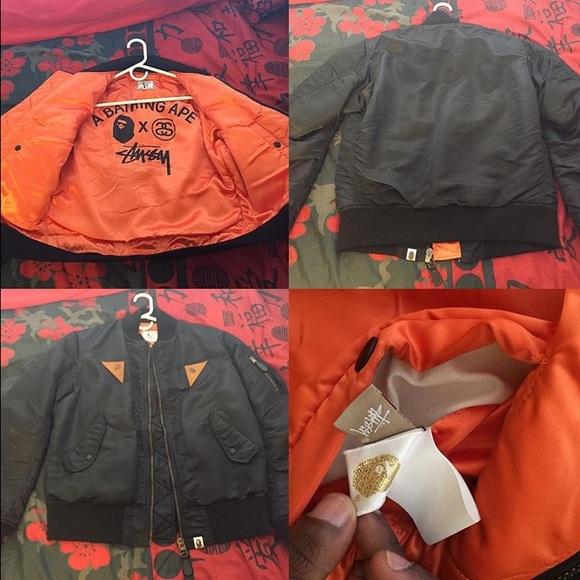 Bape  Stussy Outerwear - Bape x Stussy Bomber Jacket 4309b1072