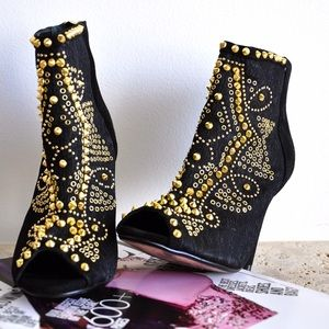 Baroque Inspired Ankle Booties