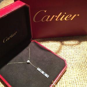 Cartier 18kt white Lariat drop diamond necklace