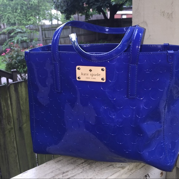75% off kate spade Handbags - Kate Spade blue patent leather ...