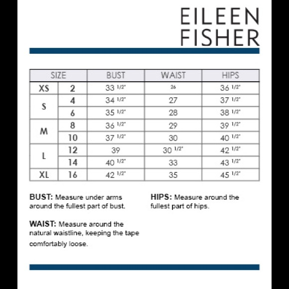 Eileen fisher eileen fisher size chart from catina s closet on