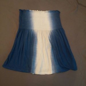 Lucky Brand strapless smocked babydoll top