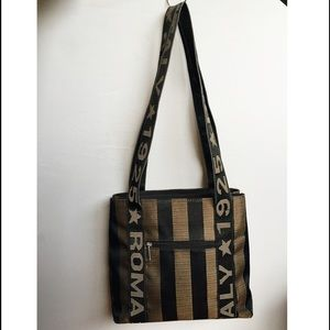 6f37de4ab407 Fendi Roma Italy 1925 Styled Bag Bags - Roma Italy 1925 Striped Shoulder Bag