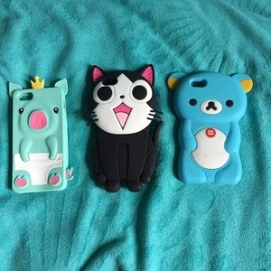 Accessories - 3 Animal iPhone 5/5S Cases