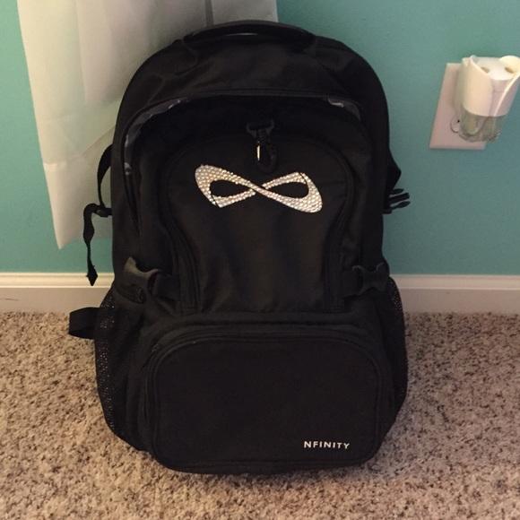 gold glitter cheer backpack bookbag infinity backpacks uk nfinity